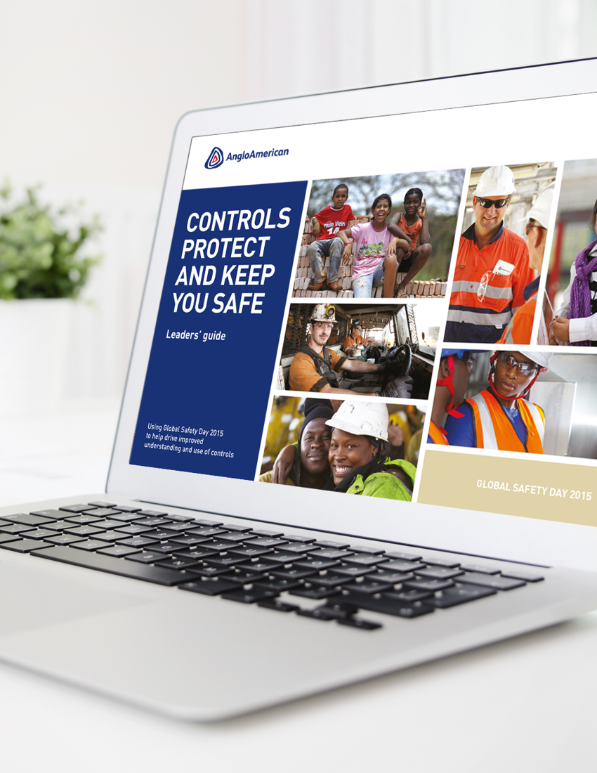 Anglo American employee safety guide visual